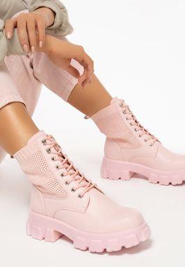 Дамски Ботинки Anja розов